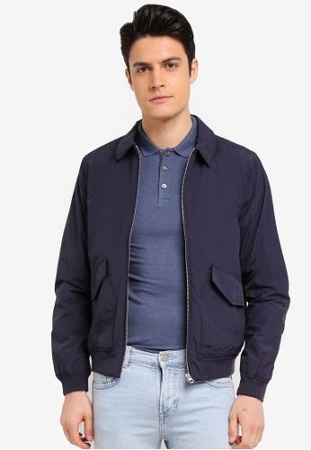 Burton Menswear London 海軍藍色 休閒口袋夾克外套 D6955AA6C91153GS_1