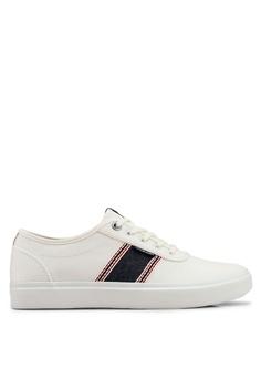 0e14aec10f7 Jack   Jones white Austin White Stripe Denim Sneakers D0C8ESH15AB93EGS 1