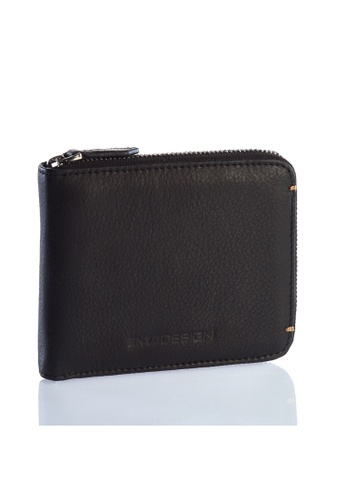 ENZODESIGN black Ultra Soft Cow Leather Zip Around Wallet EN357AC0F57YSG_1