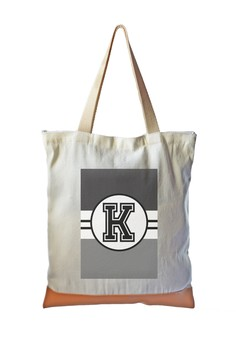 Tote Bag Monochrome Sporty Initial K