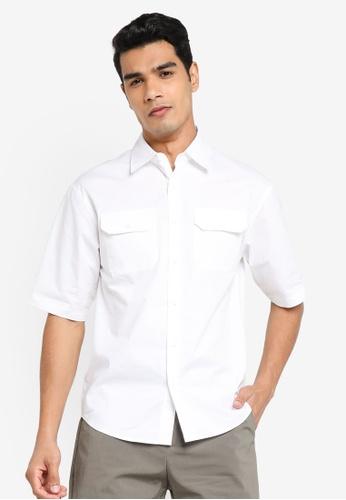 Urban Revivo white Short Sleeve Woven Shirt B3E15AA86940AAGS_1