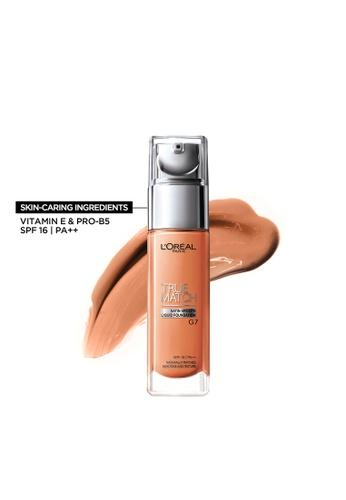 L'Oréal Paris beige True Match Natural Finish Liquid Foundation - G7 Gold Amber F1114BE188FCE1GS_1