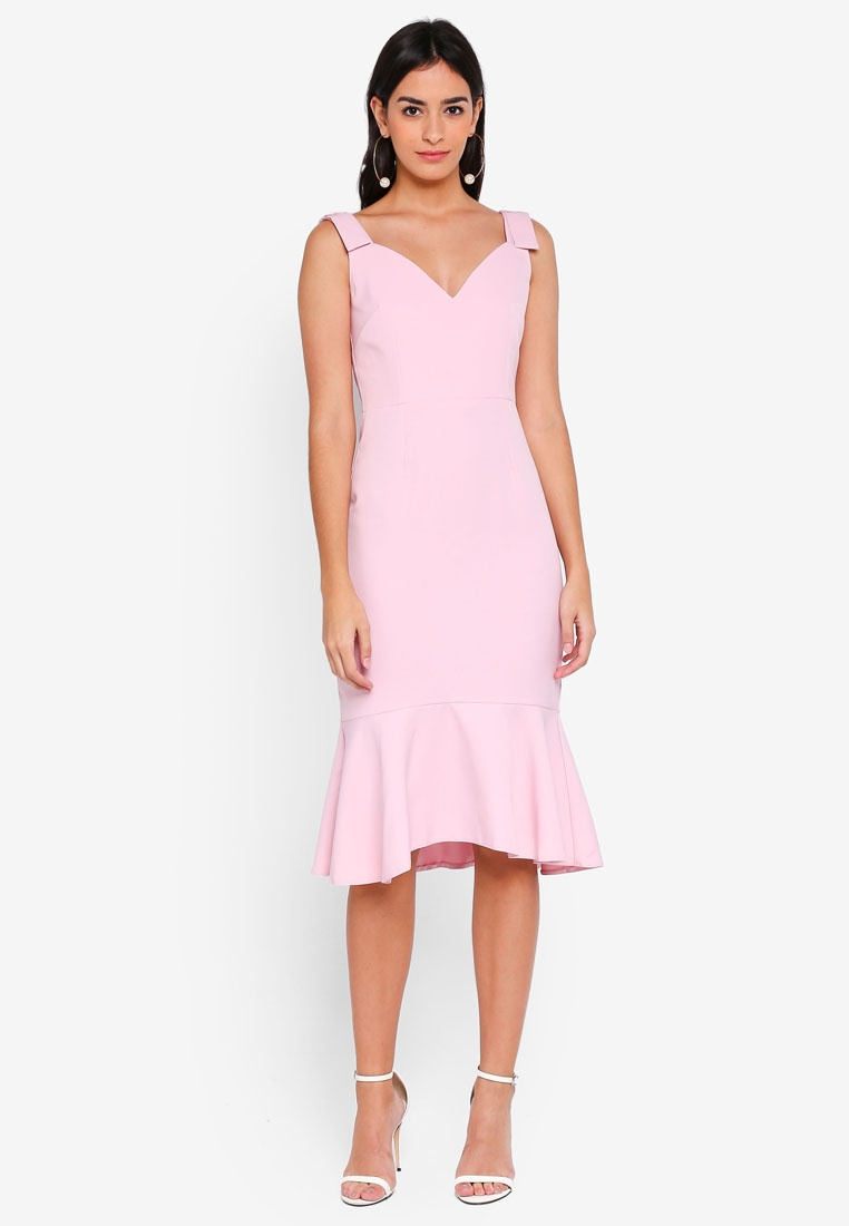 Dress Blush Frill Vesper Hem Midi Luella wFxPtRYqA
