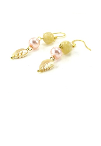 Glamorousky yellow Trendy Earrings 6E090AC8D0837AGS_1