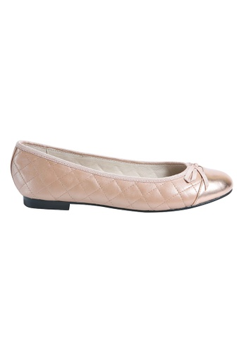 MAUD FRIZON gold Quilted Leather Ballerinas D90CDSH39F6DBEGS_1