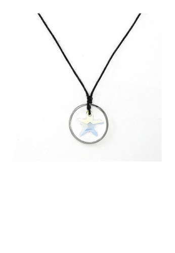 Glamorousky silver Simple Star Necklace with Silver Austrian Element Crystal 6A88CACBD93678GS_1