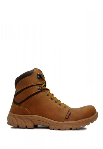Cut Engineer brown Cut Engineer Safety Boots Iron Tactikal Step Leather Soft Brown D94E2SHC60AC15GS_1