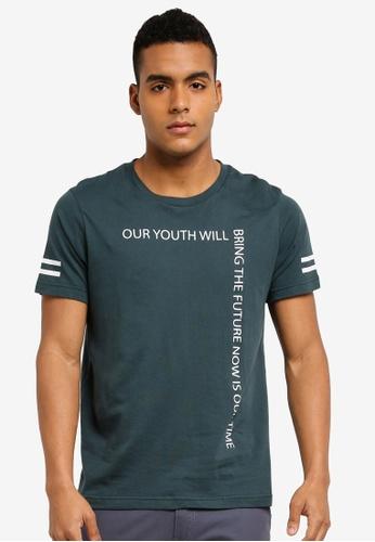 Marc & Giselle 綠色 短袖印花T恤 0DE17AA53202BEGS_1