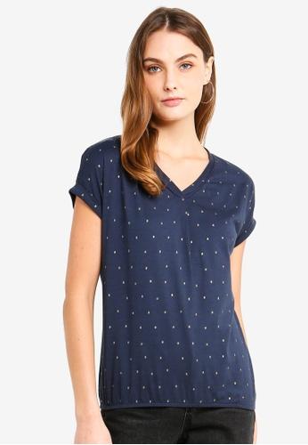ESPRIT navy Short Sleeve T-Shirt 00266AA8A0C4FEGS_1