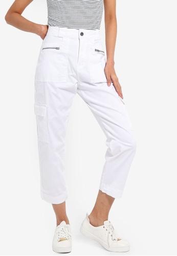 Cotton On white Geenie Utility Chino Pants ECAFAAA4A5B584GS_1
