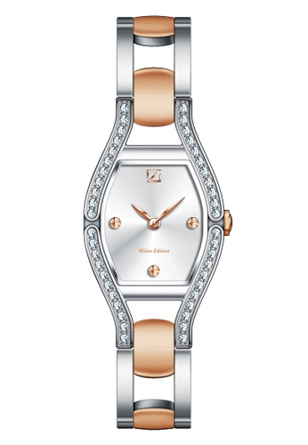 ZECA pink and silver and gold Milan Edition Female Analogue ZE260AC57SICSG_1