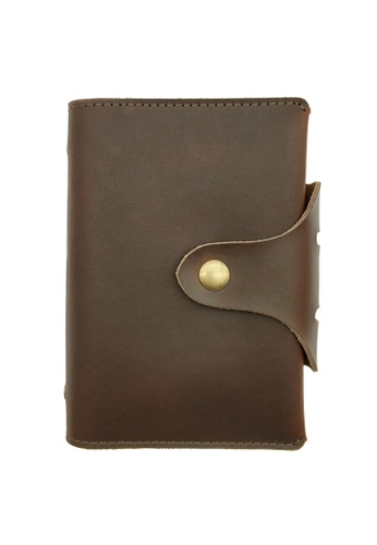 LUXORA brown The Ninja Co. Genuine Leather Notebook A7 Diary Planner Organizer Holder Case Book Stationery Corporate Office Gift 66330ACC74F10FGS_1