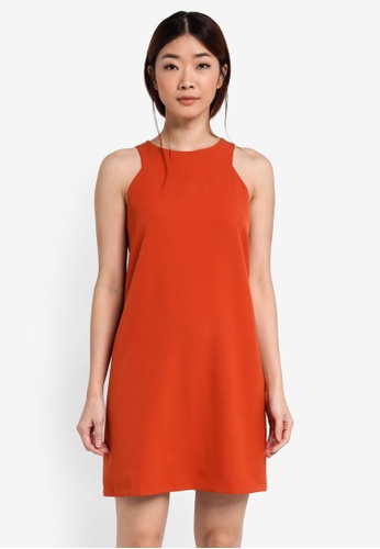 Something Borrowed orange Angular Armhole Shift Dress 9AD1EAA2A28B3DGS_1