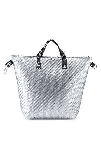 La Fille Des Fleurs silver Anita Top-Handle Backpack FA9D4AC3BF574AGS_1