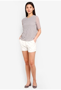 7923227aa0e 60% OFF Dorothy Perkins Grey Embellished Top RM 199.00 NOW RM 79.90 Sizes  10 12 16