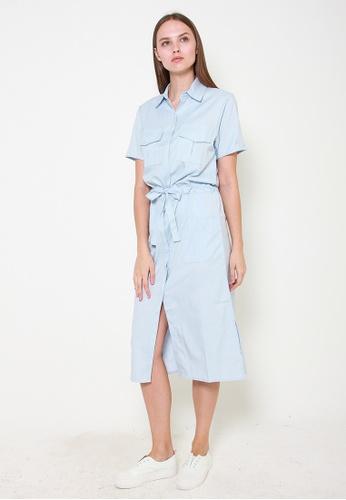Leline Style blue Jada Shirt Dress 5C870AAF6E6950GS_1