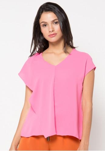 Raspberry pink Bonnie Short Sleeve Blouse RA572AA43RAAID_1