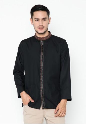 AL-LUTHFI black Koko Panjang Arrasyid - Black 94579AA0F666ACGS_1