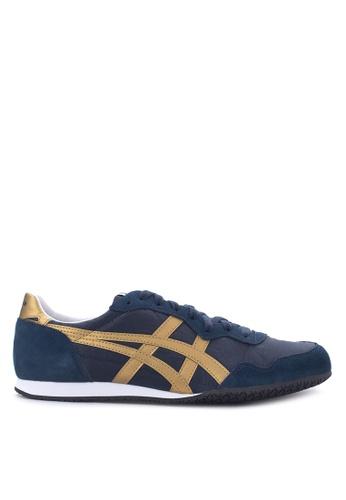 Onitsuka Tiger gold and navy Serrano Lace Up Shoes ON625SH06TIVPH_1