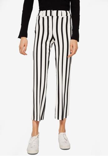 Mango white Straight Striped Trousers 3DD7FAA87BD69AGS_1