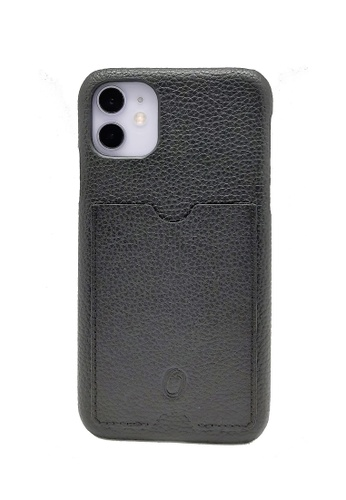 Oxhide black iPhone 11 Cover with Card Holder - Oxhide 41DECAC7597E8CGS_1