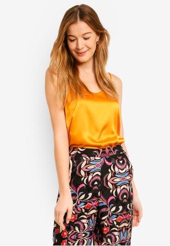 Vero Moda orange Vally Singlet Top AADFDAA989390AGS_1