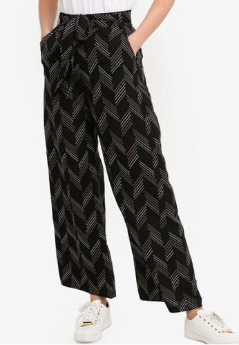 ZALORA BASICS multi Basic Woven Wide Leg Pants With Tie 36E37AA339B2FFGS_1