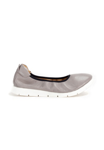 Shu Talk grey DARKWOOD Comfortable Ballet Flats 77D4CSHD563A13GS_1
