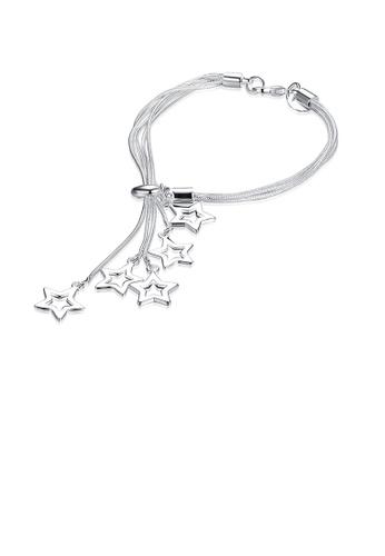 Glamorousky silver Elegant Fashion Romantic Fantasy Starry Sky Star Bracelet 78D44ACE064E91GS_1