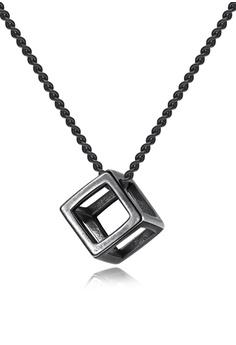 e368714661 Trendyshop black Cube Pendant Necklace 30CEAAC17BADFCGS_1