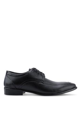Bata black Faux Leather Dress Shoes 88D09SH6CFD61EGS_1