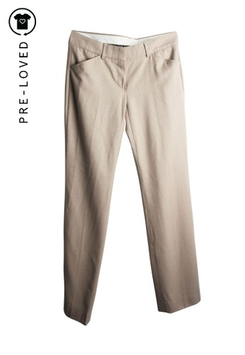 Theory beige Pre-Loved theory Beige Wool Pants CC227AAE2DB7E7GS_1