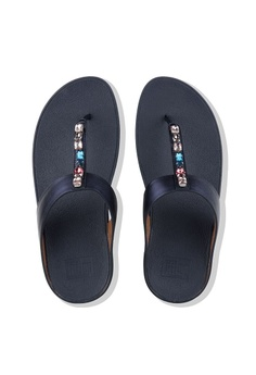 819910f2b10 11% OFF Fitflop Fitflop Fino Bejewelled Toe Post (Meteor Blue) RM 469.00  NOW RM 419.00 Sizes 5 6 7 8 9