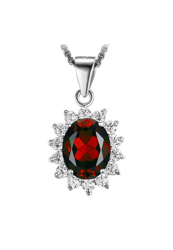 Elfi red Elfi 925 Sterling Silver Necklace Pendant SP30 (Red) 18356ACF3C1863GS_1