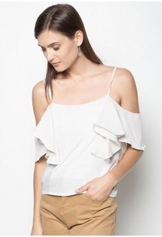 Bare Shoulder Ruffle Top