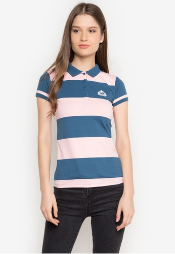 Stylistic Mr. Lee multi Short Sleeves Stripes Polo Shirt MR206AA0JXTSPH_1
