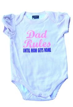 Dad Rules Until Mom Gets Home Onesie