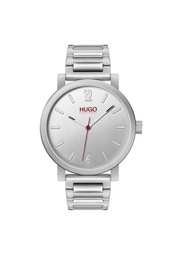Hugo Boss silver HUGO Rase Silver Men's Watch (1530117) 74CBFAC7FED3D1GS_1