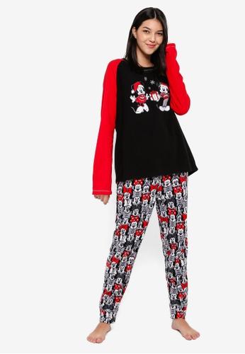 OVS grey and multi Off White Pyjama Set With Minnie Print 05532AA142B1DCGS_1