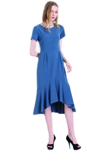 ce23ebb84b6f Buy ICONIC Asymmetrical Mermaid Midi Dress Online on ZALORA Singapore