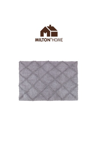 Milton Home grey SET OF 3 Milton Home Mesa Tufted Bath Mat with Anti Slip coating 40 x 60cm / 336g DD2F5HLEB319BCGS_1