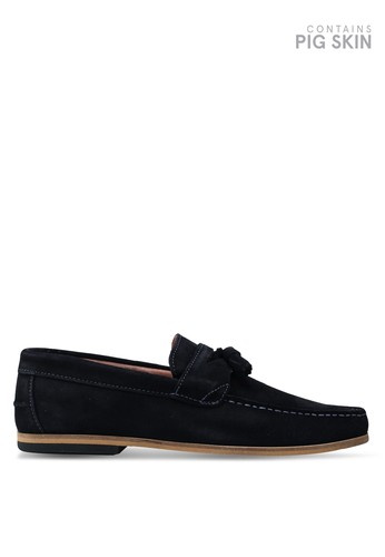 River Island navy Navy Suede Loafers F7D15SHA7096C8GS_1