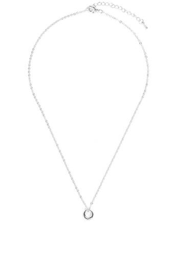 We Enjoy Simplicity silver Halo Necklace (Silver) C098BAC62A8949GS_1