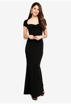 b019cc2d2a Goddiva black Sweetheart Neck Maxi Dress 5BABCAA6A4D3A1GS_1