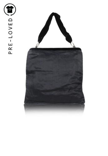 Yves Saint Laurent black Pre-Loved yves saint laurent Black Silk And Velvet Frame Bag B7982AC0F0C6DCGS_1