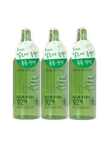 NATURE REPUBLIC Bundle 3 - Soothing & Moisture Aloe Vera 92% Soothing Gel Mist 150ml 12AC6BEA94E91DGS_1