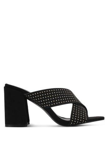 Something Borrowed black Crossover Block Heel Mules 2ADEASHCA4BCD8GS_1