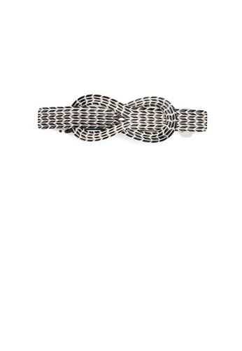 Glamorousky silver Simple and Elegant Ribbon Hair Slide 5B5C8AC30A1294GS_1