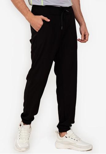 ZALORA ACTIVE black Wide Band Jogger Pants 64190AAE556385GS_1