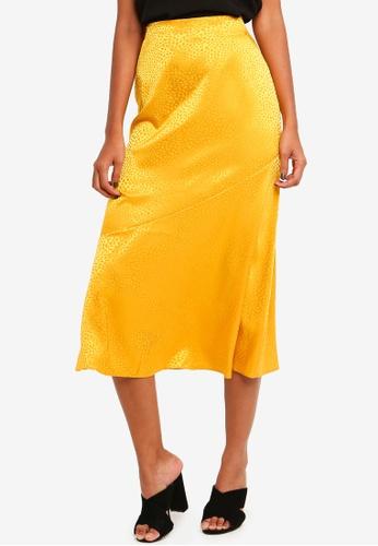 15961dda0b Buy Dorothy Perkins Ochre Jacquard Hem Midi Skirt Online on ZALORA Singapore